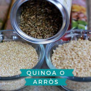 La gran pregunta… què és millor, consumir arròs blanc o quinoa?